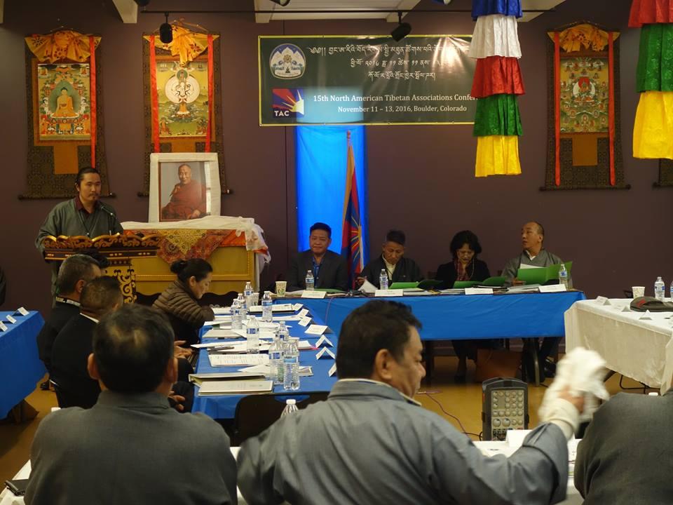 TAV Vice President presenting TAV's Annual Report.