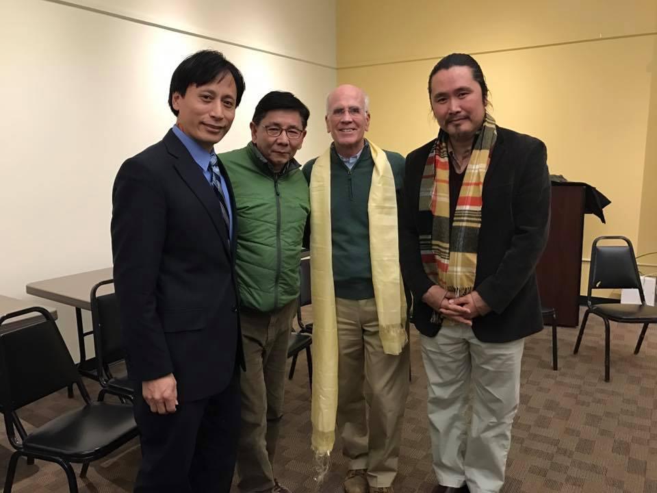 Congressman Peter Welch with TAV President, Secretary and Vice President.