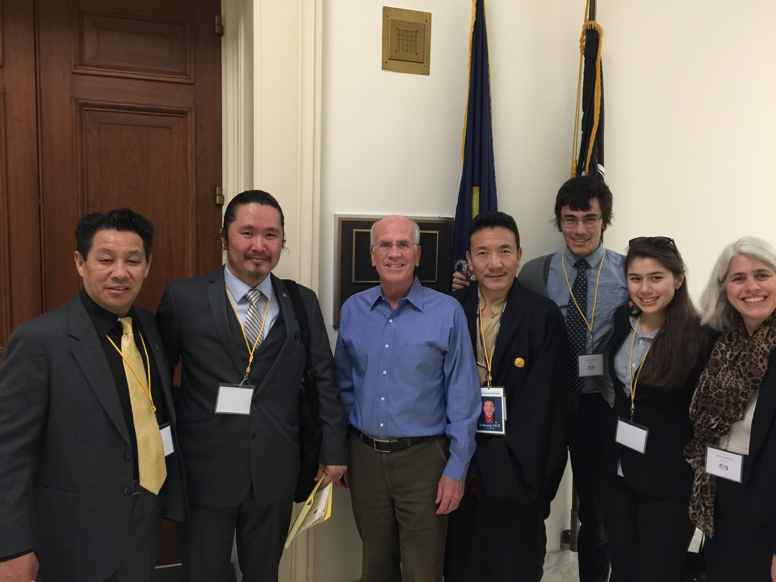 Vermont Congressmen Welch with members of the Tibetan Association of Vermont